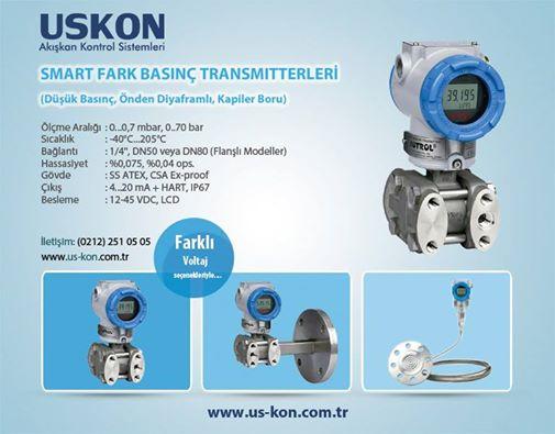 USKON Smart (Akıllı Tip) Fark Basınç Transmitterları