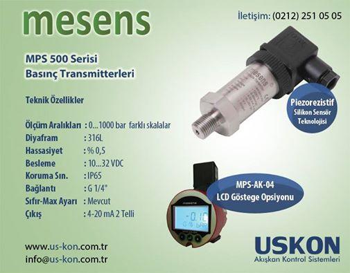 MESENS MPS500 Basınç Transmitterleri
