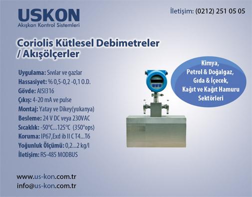Coriolis Kütlesel Debimetreler