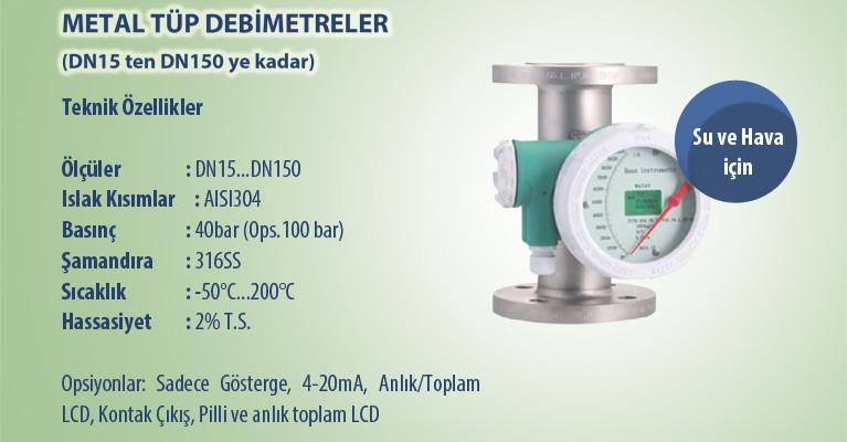 USKON dan Metal Tüp Debimetreler (DN15 ten DN150 ye kadar)