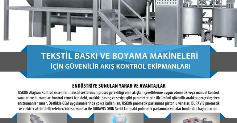 Tekstil Baskı ve Boyama Makineleri için Güvenilir Akış Kontrol Ekipmanları