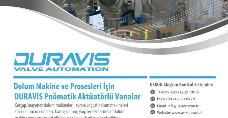 Dolum Makine ve Prosesleri için DURAVIS Pnömatik Aktüatörlü Vanalar