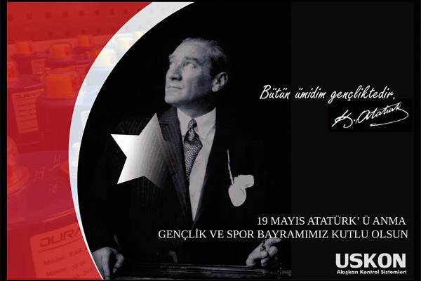 19 Mayıs Atatürk'ü Anma, Gençlik ve Spor Bayramımız Kutlu Olsun…