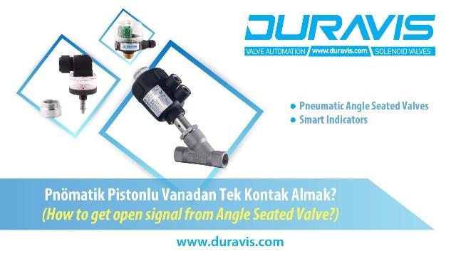 DURAVIS PVC Gövdeli Pnömatik Pistonlu Vanadan; Tek Kontak Almak İçin Pozisyon Göstergesi, Limit Switch Bağlantısı Nasıl Yapılır?