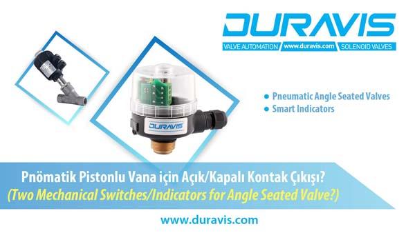 DURAVIS Pnömatik Pistonlu Vana ile Açık Kapalı Kontak Almak, 2xMekanik Limit Switch Bağlantısı Nasıl Yapılır?