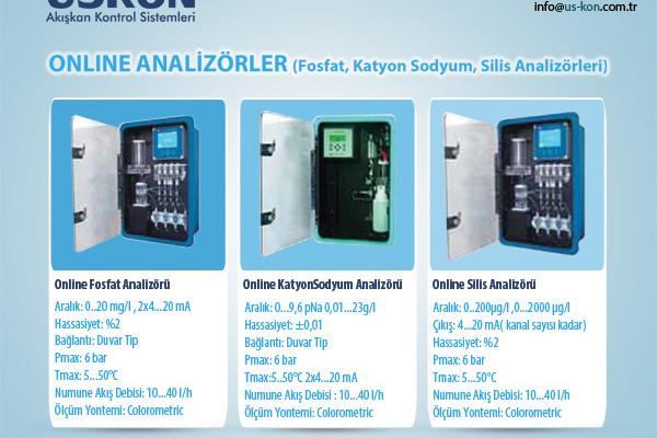 Online Analizörler (Fosfat, Katyon Sodyum, Silis Analizörleri)