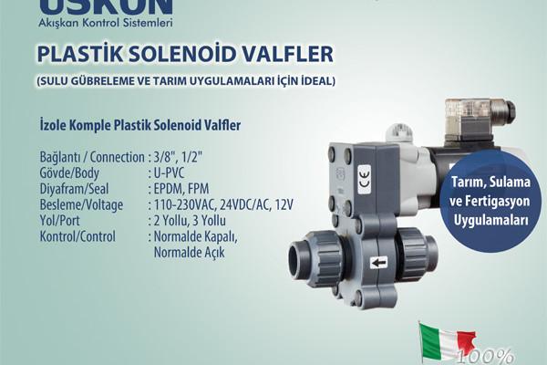Plastik Solenoid Valfler (Sulu Gübreleme ve Tarım Uygulamaları İçin İdeal)