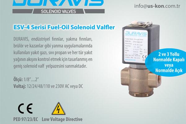DURAVIS ESV-4 Serisi Fuel-Oil Solenoid Valfler