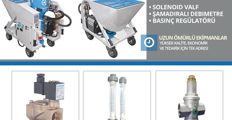 Sıva ve Alçı Makineleri İçin Güvenilir Akış Kontrol Ekipmanları