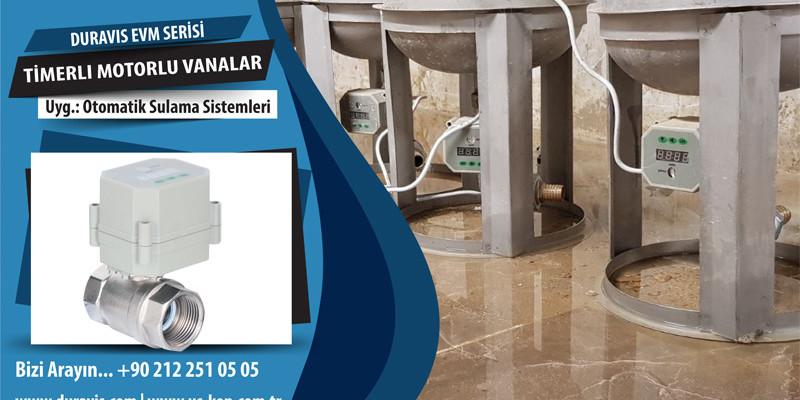 Otomatik Sulama Sistemleri için DURAVIS Timerlı Mini Motorlu Vanalar