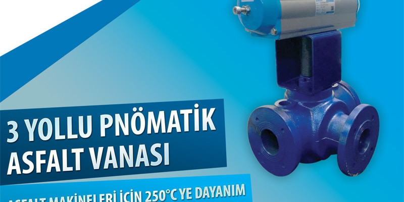 DURAVIS 3 Yollu Pnömatik Asfalt Vanaları