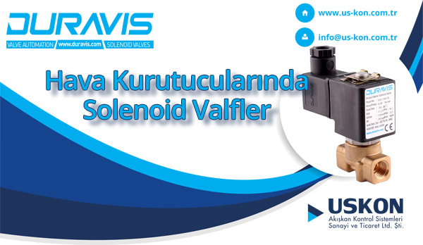 Hava Kurutucularında DURAVIS Solenoid Valfler