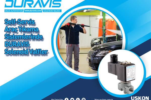 Self Servis Araç Yıkama Sistemlerinde DURAVIS Solenoid Vanalar