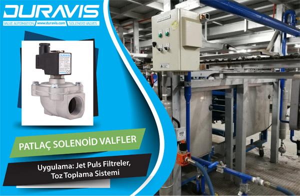 Jet Puls Filtrelerde DURAVIS EPV Serisi Patlaç Solenoid Valfler