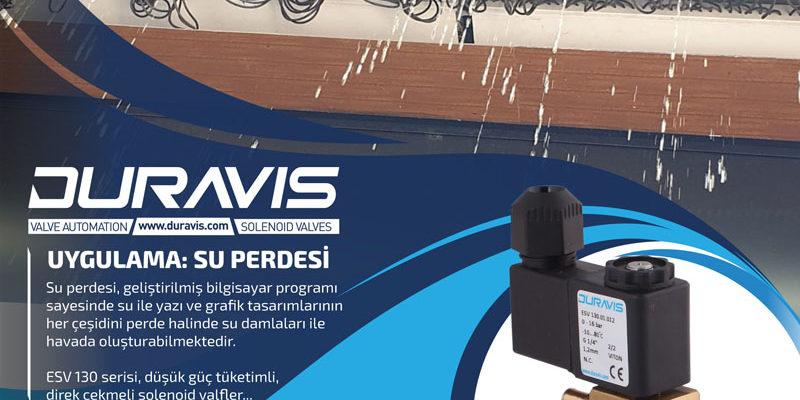 DURAVIS Solenoid Valfler ile Su Perdesi Uygulaması