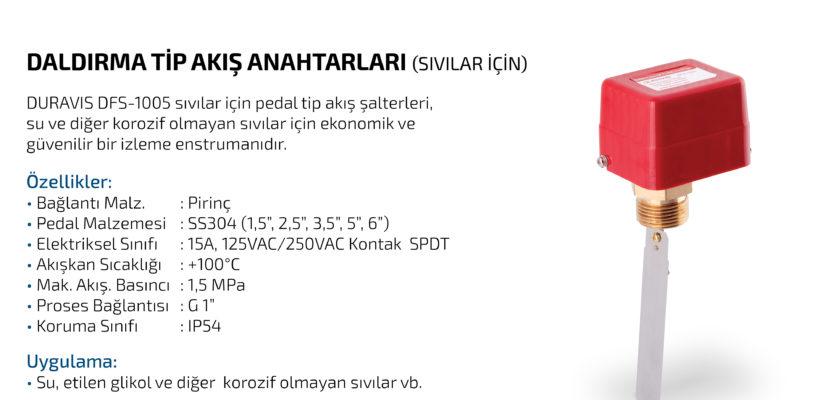 DURAVIS DFS-1005 Pedal Tip Akış Şalterleri