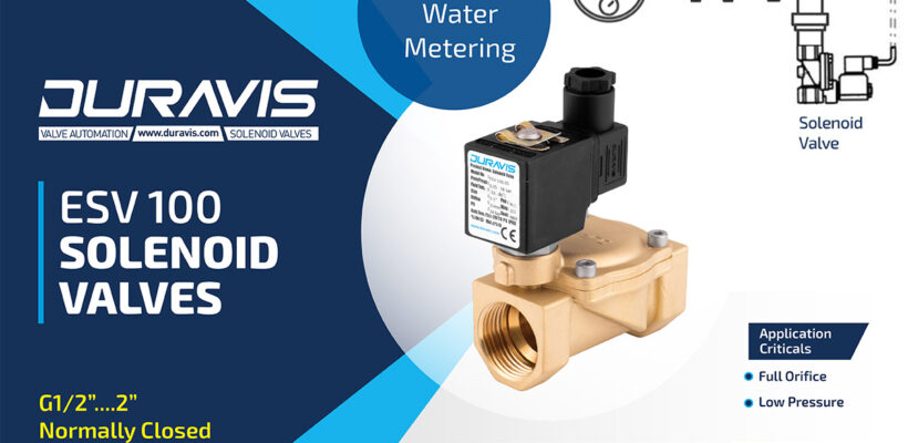 DURAVIS ESV100 Pilot Opeated Solenoid Valves on Watermetering Application