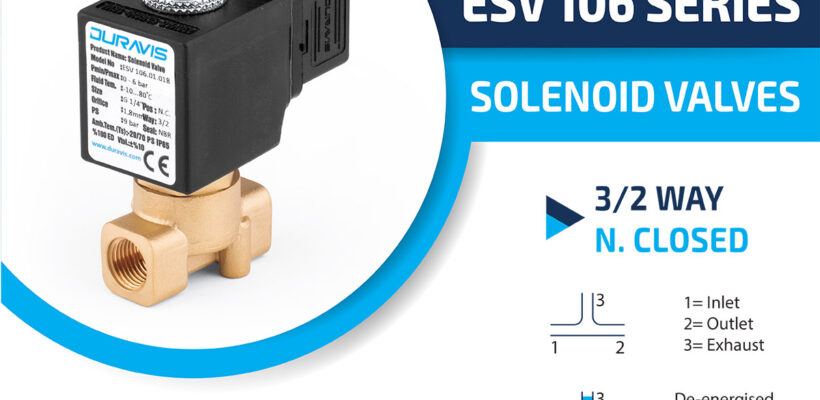 DURAVIS ESV 106 Series 3/2Way Normally Closed Solenoid Valves