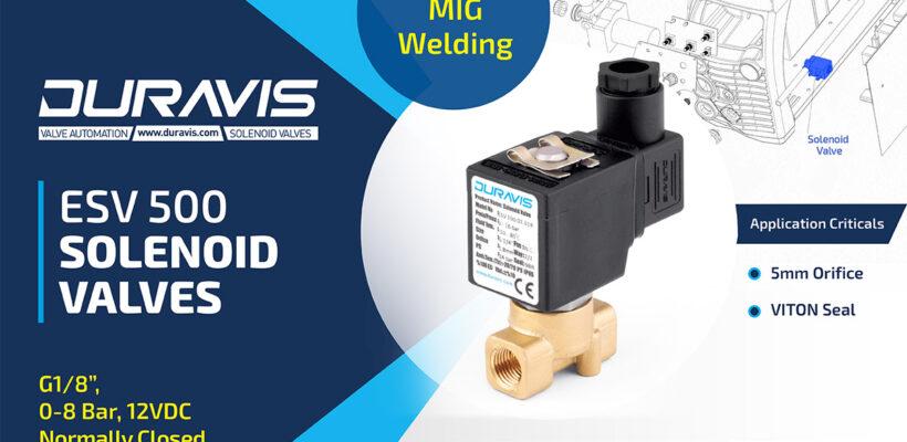DURAVIS ESV 500-00-050 Solenoid Valve on MIG Welder