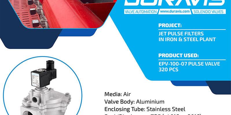 DURAVIS Dust Collector Solenoid Valves / Pulse Valves on Local Iron & Steel Plant